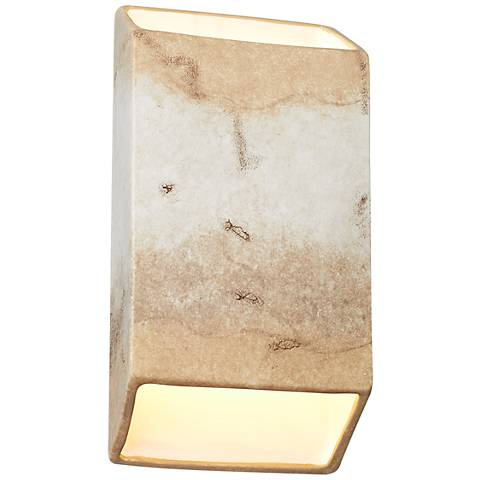 "Ambiance Collection 14""H Greco Travertine LED Wall Sconce"