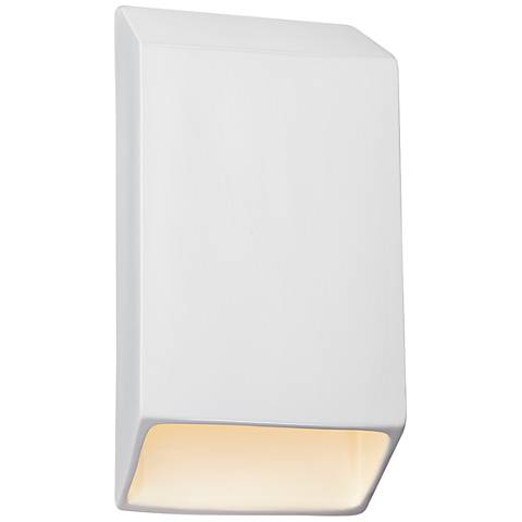 "Ambiance Collection 14"" High Gloss White LED Outdoor Wall Light"