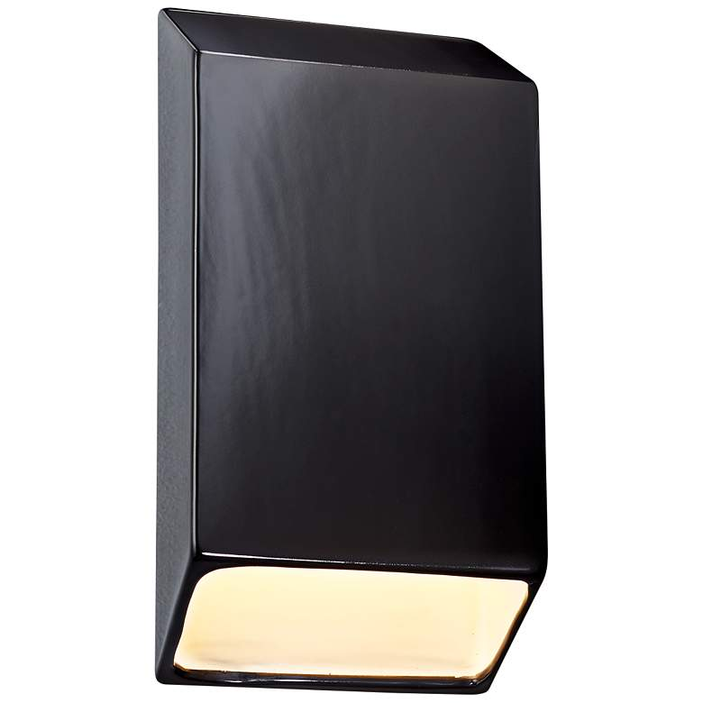 """Ambiance Collection 14"""" High Gloss Black LED Outdoor Wall Light"""