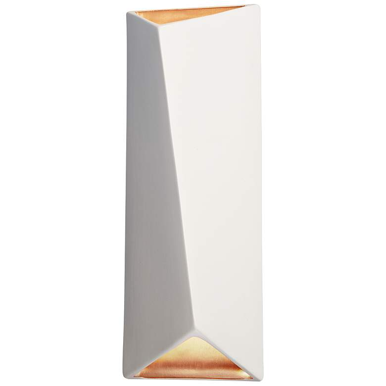 """Ambiance Collection 16"""" High Matte White LED Wall Sconce"""
