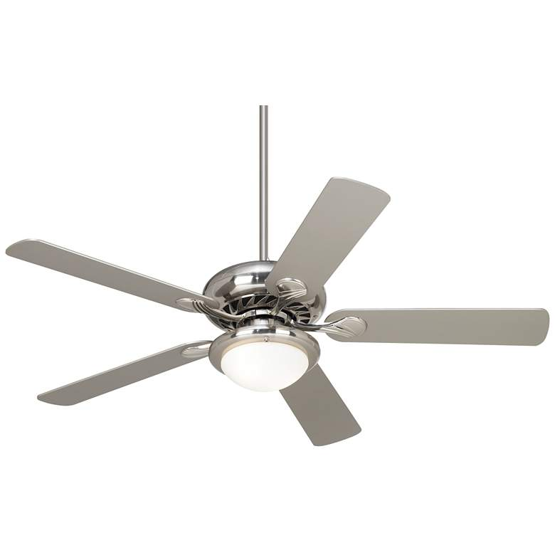 "52"" Casa Vieja Tempra Brushed Nickel LED Ceiling Fan"