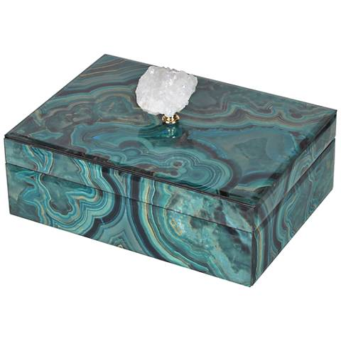 Bethany Large Turquoise Marble Decorative Box