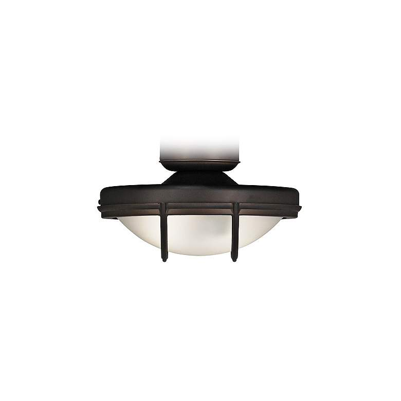 Oil-Rubbed Bronze Wet Rated 2-Light LED Fan Light