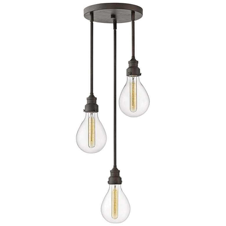 "Hinkley Denton 13 1/4""W Industrial Iron Multi Light Pendant"