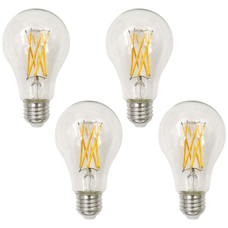 75W Equivalent Clear 8W LED Dimmable Filament A21 4-Pack