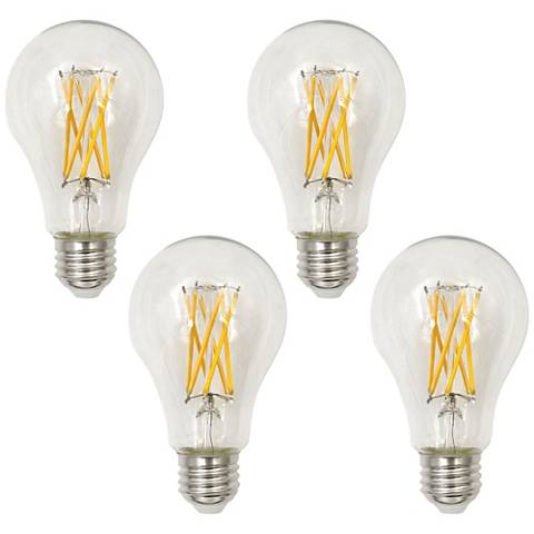 75W Equivalent Clear 10.5W LED Dimmable Filament A21 4-Pack