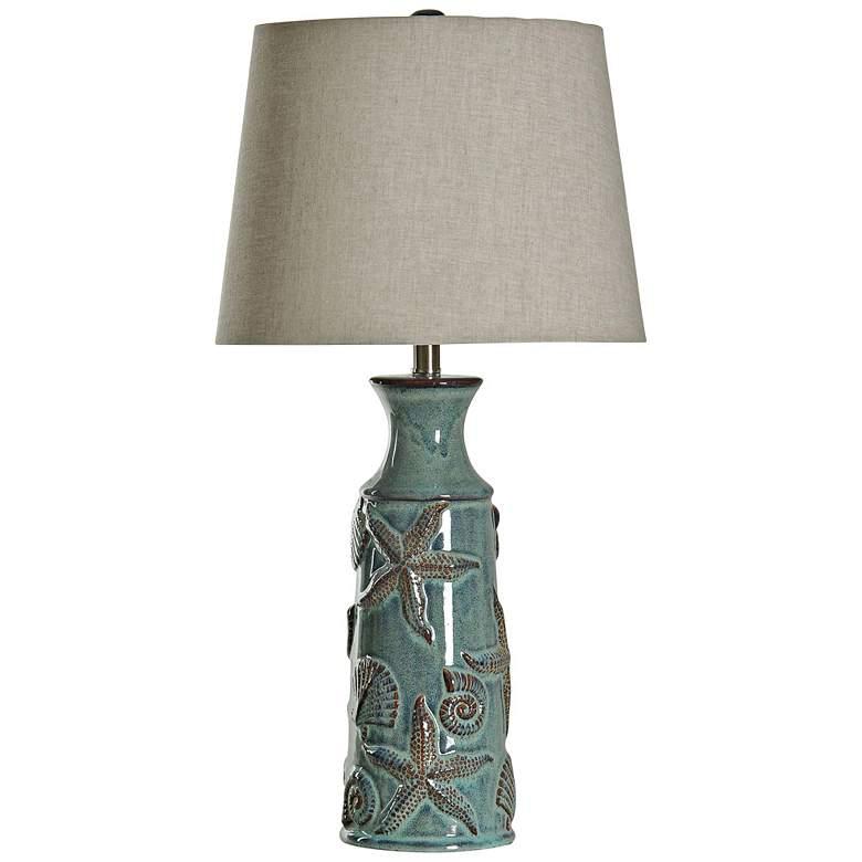 Blue Bay Tropical - Coastal Ceramic Starfish Table Lamp