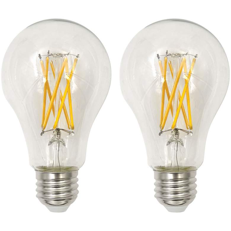 75W Equivalent Clear 8W LED Dimmable Filament A21 2-Pack
