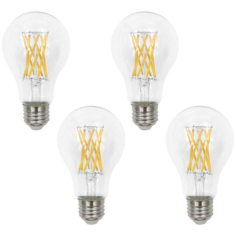 100W Equivalent Clear 12W LED Dimmable Standard A21 4-Pack