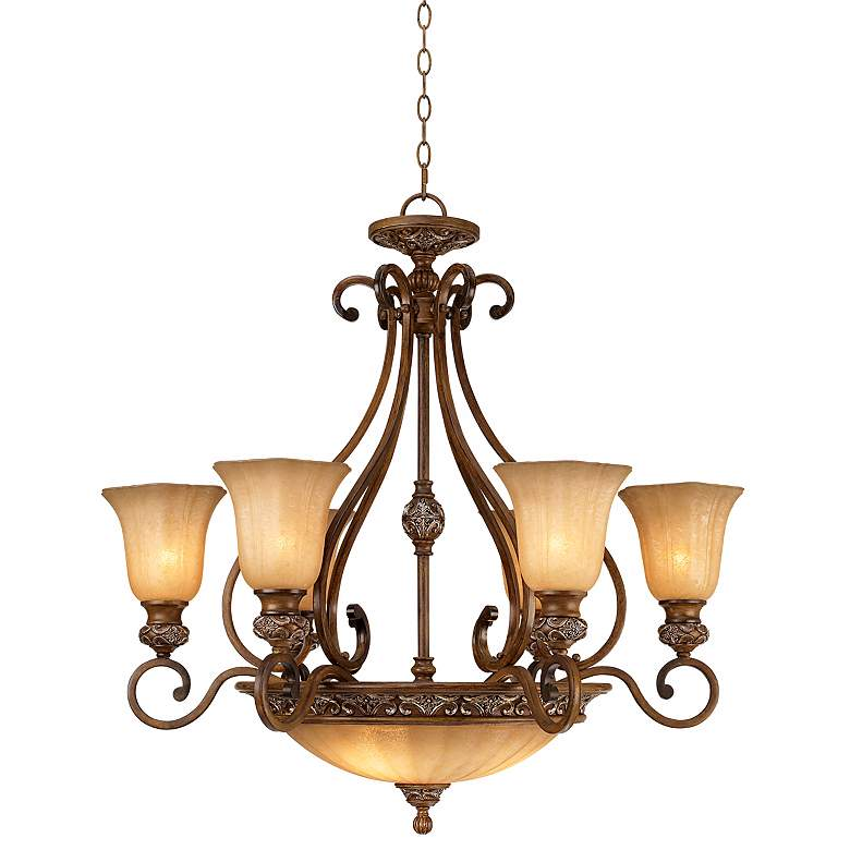 "Amps Plus: Kathy Ireland Sterling Estate 34 1/2"" Wide Chandelier"