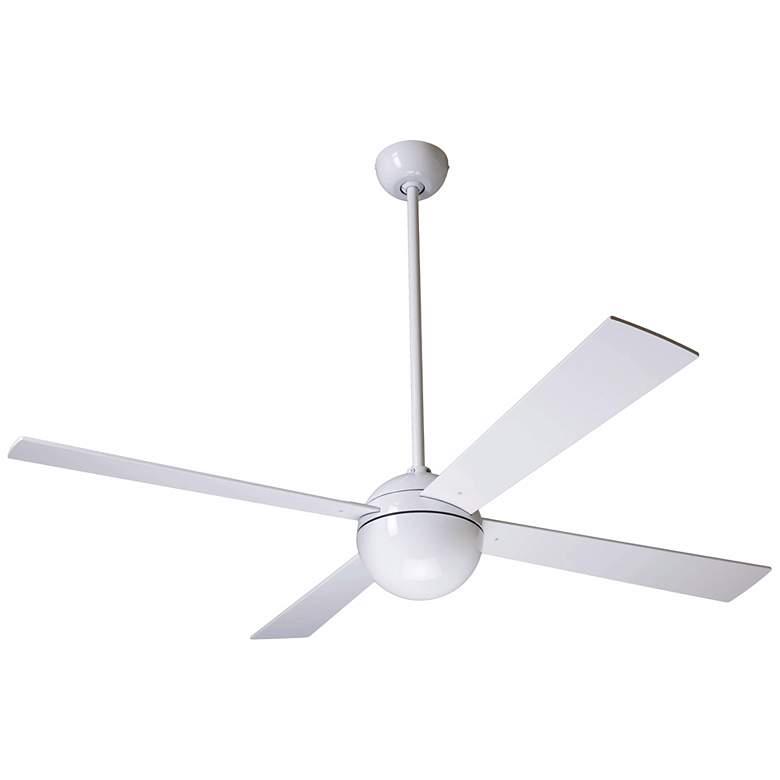 """52"""" Modern Fan Company Gloss White Ball Ceiling Fan"""