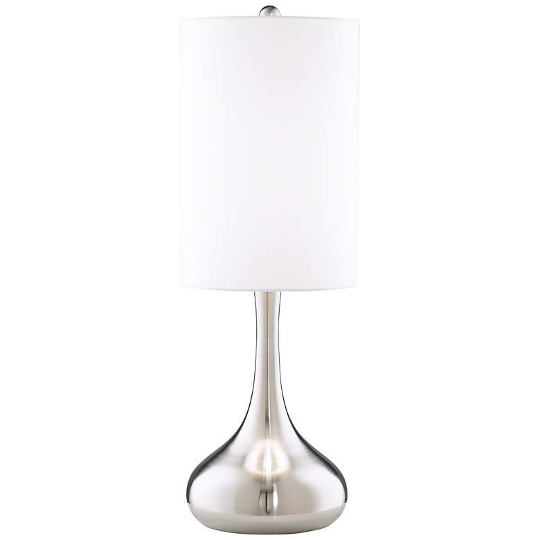 Moderne Brushed Steel Finish Table Lamp