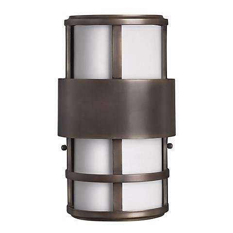 """Hinkley Saturn 12 1/2"""" High Metro Bronze Outdoor Light"""