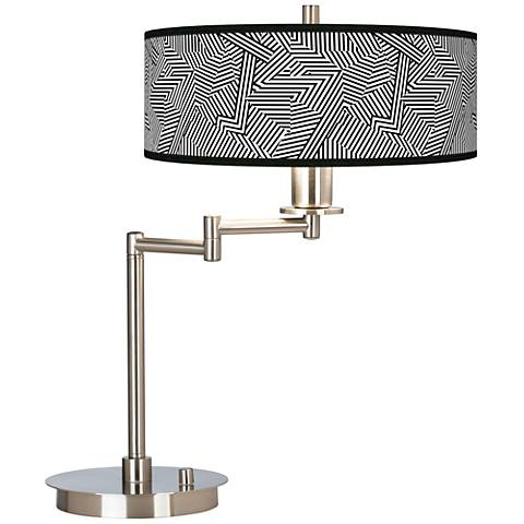 Labyrinth Giclee CFL Swing Arm Desk Lamp