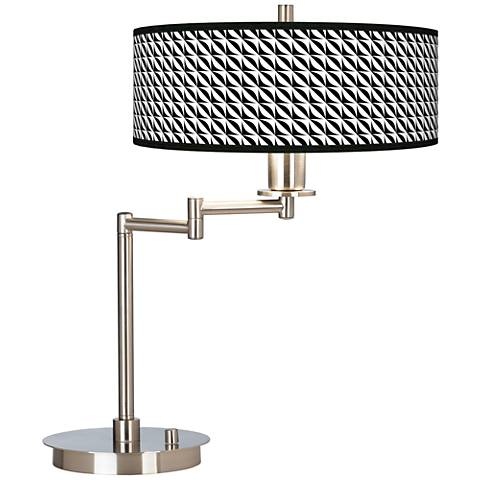 Waves Giclee CFL Swing Arm Desk Lamp