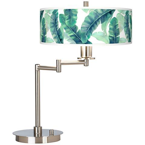 Guinea Giclee CFL Swing Arm Desk Lamp