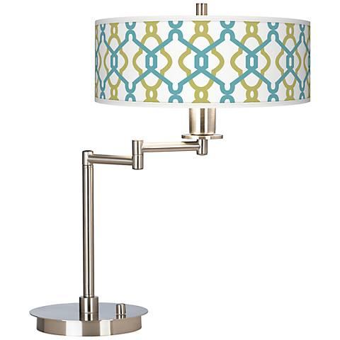 Hyper Links Giclee CFL Swing Arm Desk Lamp