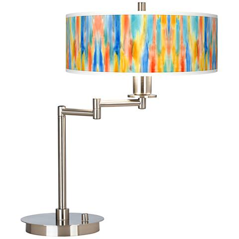 Tricolor Wash Giclee CFL Swing Arm Desk Lamp