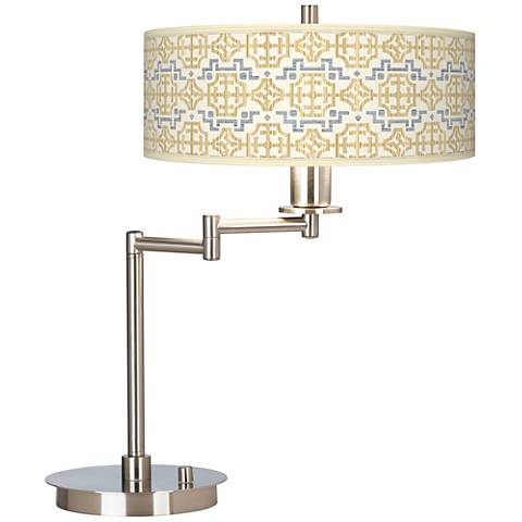Willow Chinoiserie Giclee CFL Swing Arm Desk Lamp