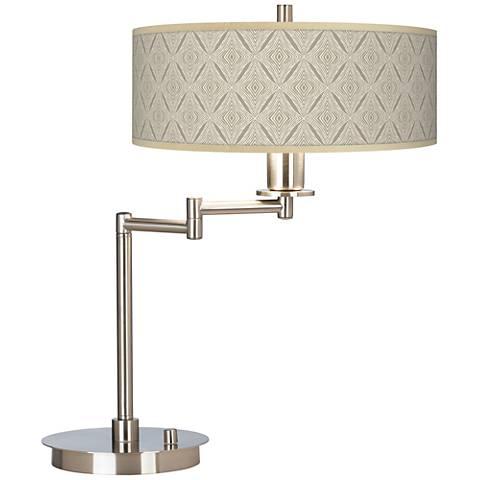 Moroccan Diamonds Giclee CFL Swing Arm Desk Lamp