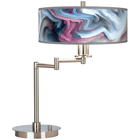 Europa Giclee CFL Swing Arm Desk Lamp