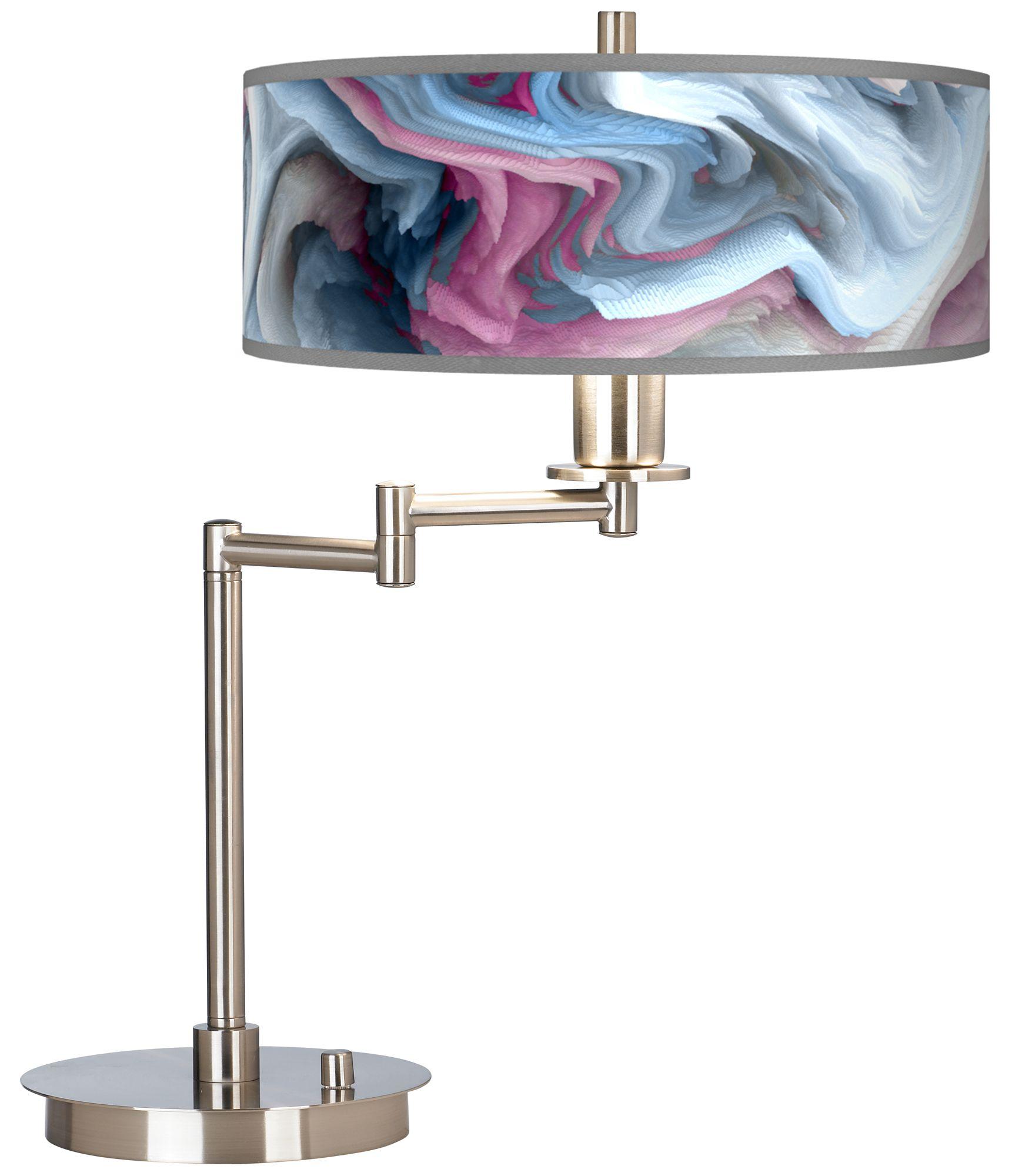 Europa Giclee CFL Swing Arm Desk Lamp