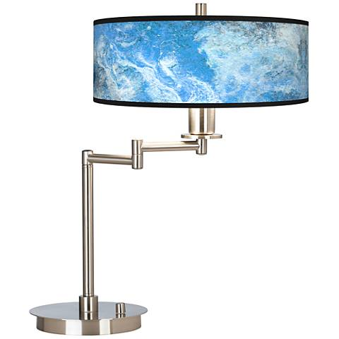 Ultrablue Giclee CFL Swing Arm Desk Lamp