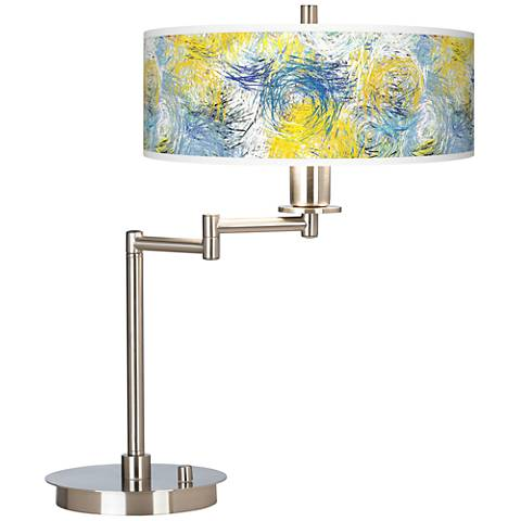 Starry Dawn Giclee CFL Swing Arm Desk Lamp
