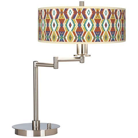 Southwest Bohemian Giclee CFL Swing Arm Desk Lamp
