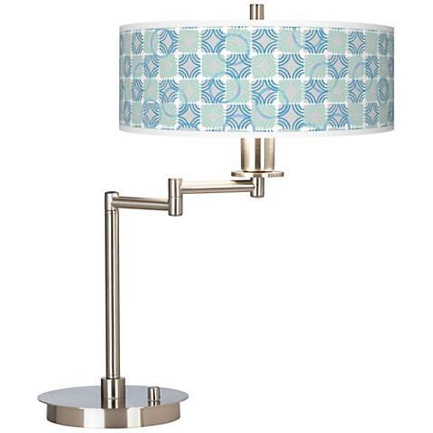 Deco Circles Giclee CFL Swing Arm Desk Lamp