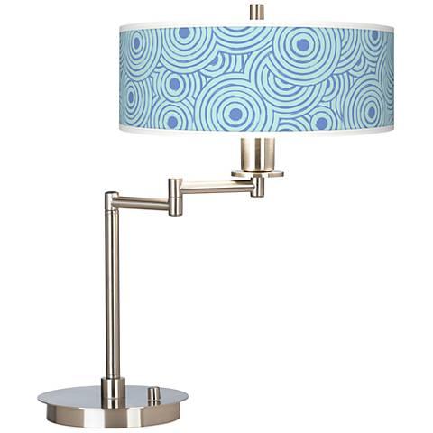 Circle Daze Giclee CFL Swing Arm Desk Lamp