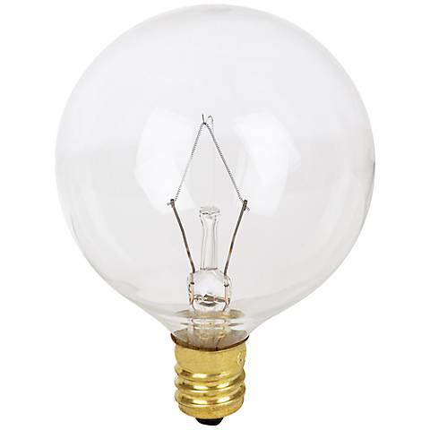 60 Watt Candle Base Clear Bulb
