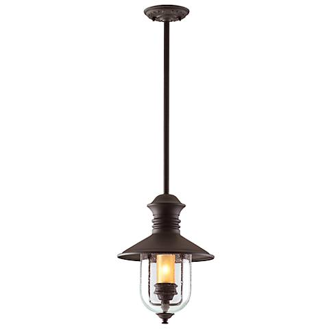 "Old Town 16"" High Natural Bronze Outdoor Hanging Light"