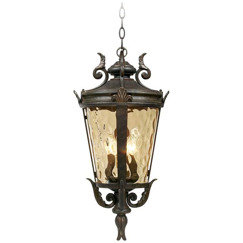 """Casa Marseille™ 23 3/4"""" High Bronze Outdoor Hanging Light"""