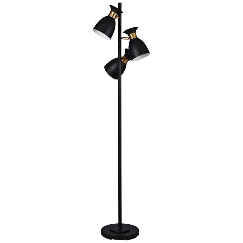 Arvin Black and Gold 3-Light LED Tree Floor Lamp