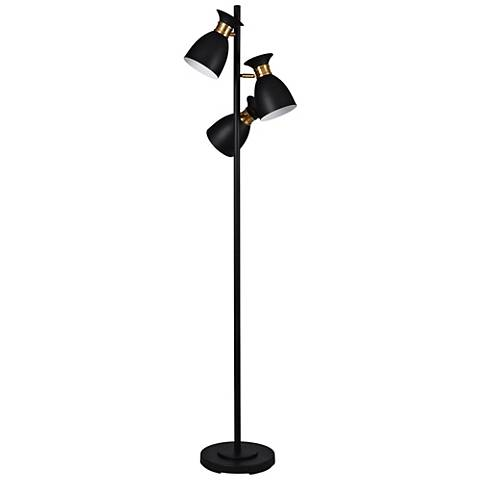 Arvin Black And Gold 3 Light Led Tree Floor Lamp 61a04