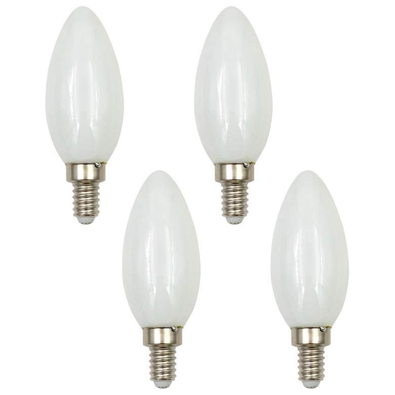 40 Watt Equivalent Milky 4W LED Dimmable Candelabra 4-Pack