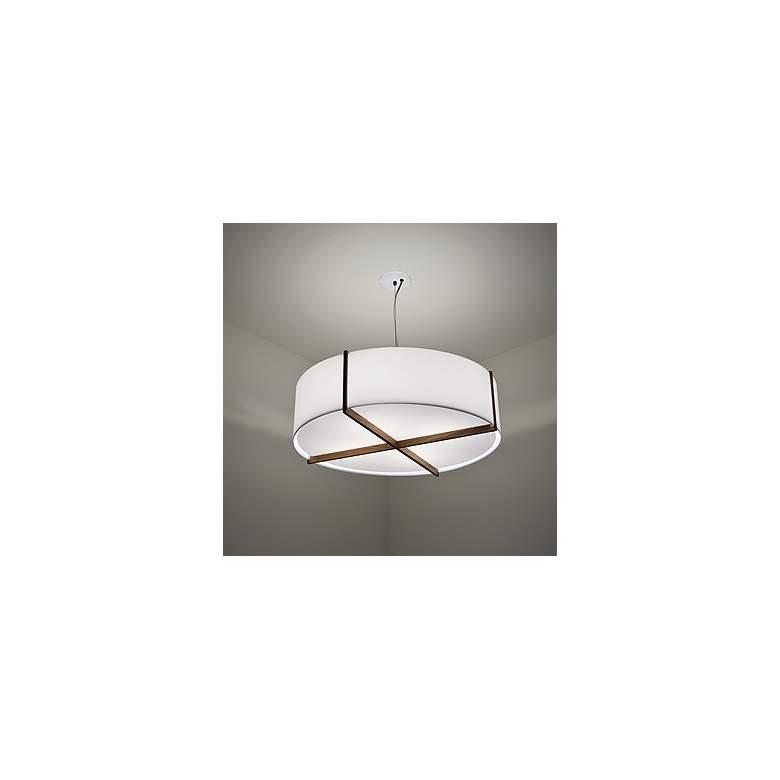 "Cerno Plura 18"" Wide Walnut LED Pendant Light"