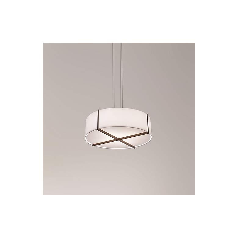 "Cerno Plura 36"" Wide Walnut LED Pendant Light"