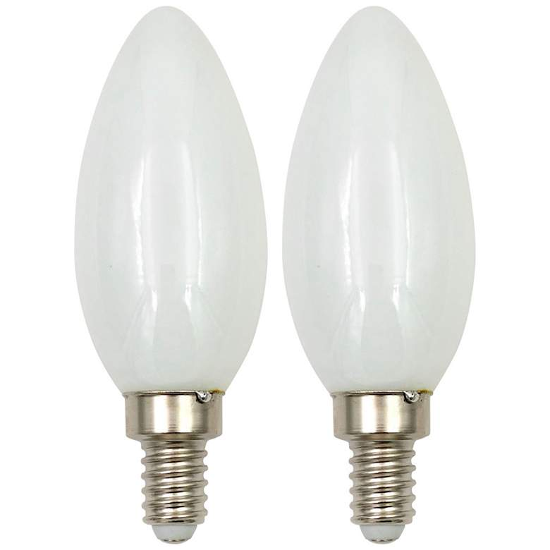 40 Watt Equivalent Milky 4W LED Dimmable Candelabra 2-Pack