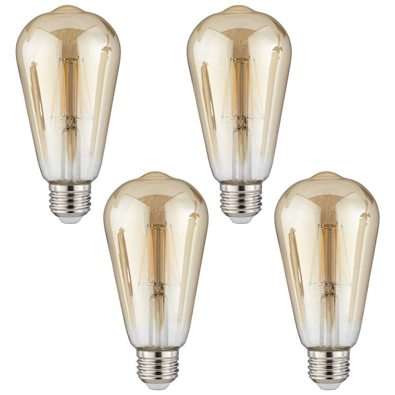 60W Equivalent Amber 7W LED Dimmable Standard Edison