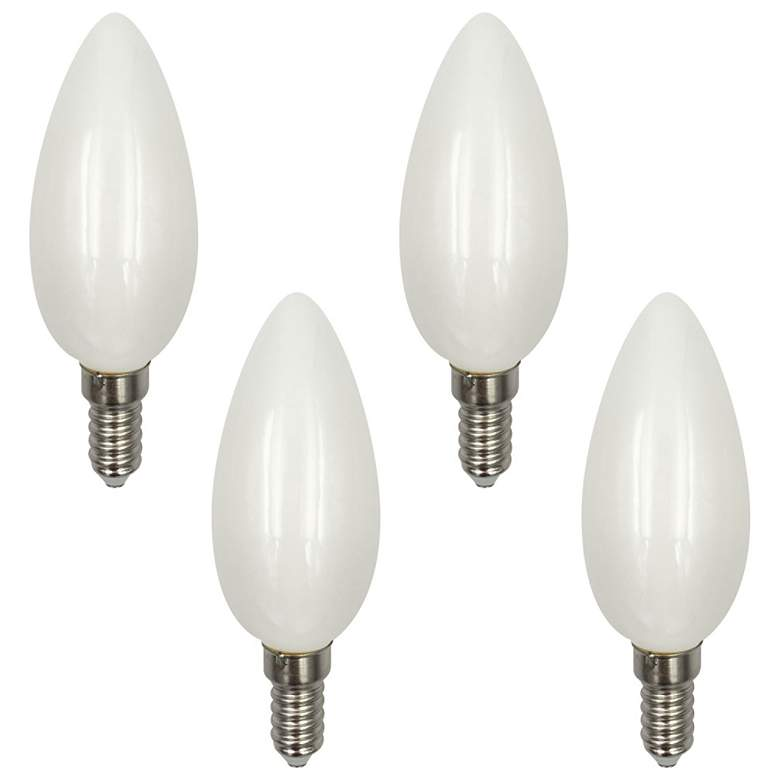 60 Watt Equivalent Frosted 6W LED Dimmable Candelabra 4-Pack