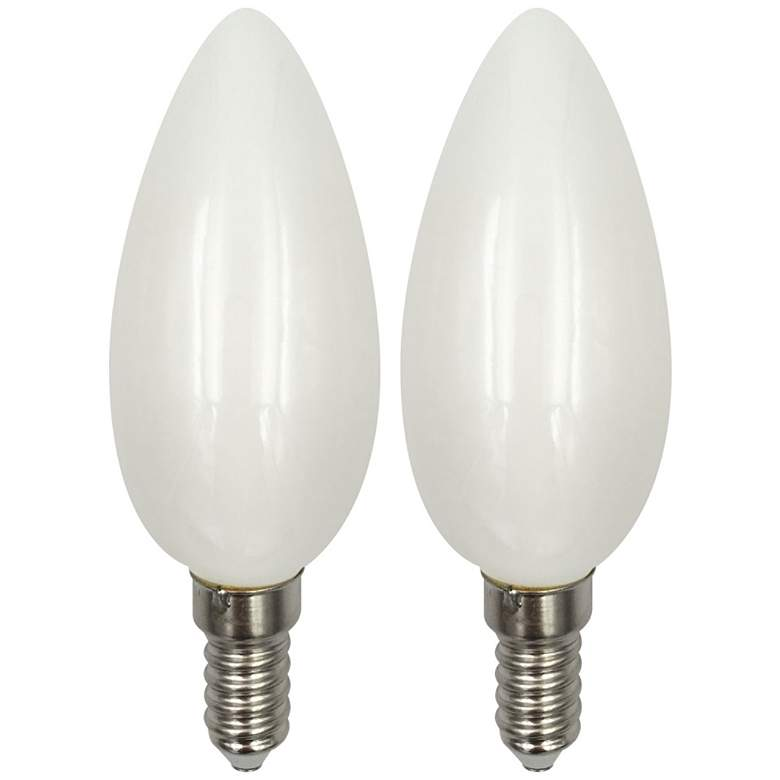 60 Watt Equivalent Frosted 6W LED Dimmable Candelabra 2-Pack