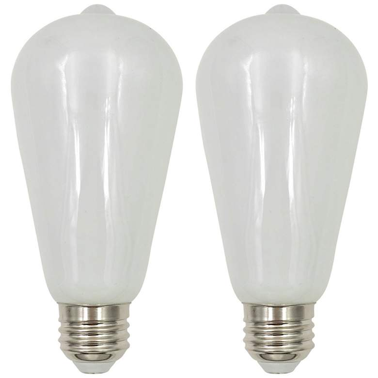 60W Equivalent Tesler Milky 7W LED Dimmable Standard 2-Pack