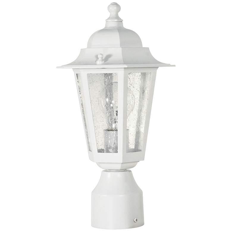 "Satco Cornerstone 14 1/4"" High White Outdoor Post Light"
