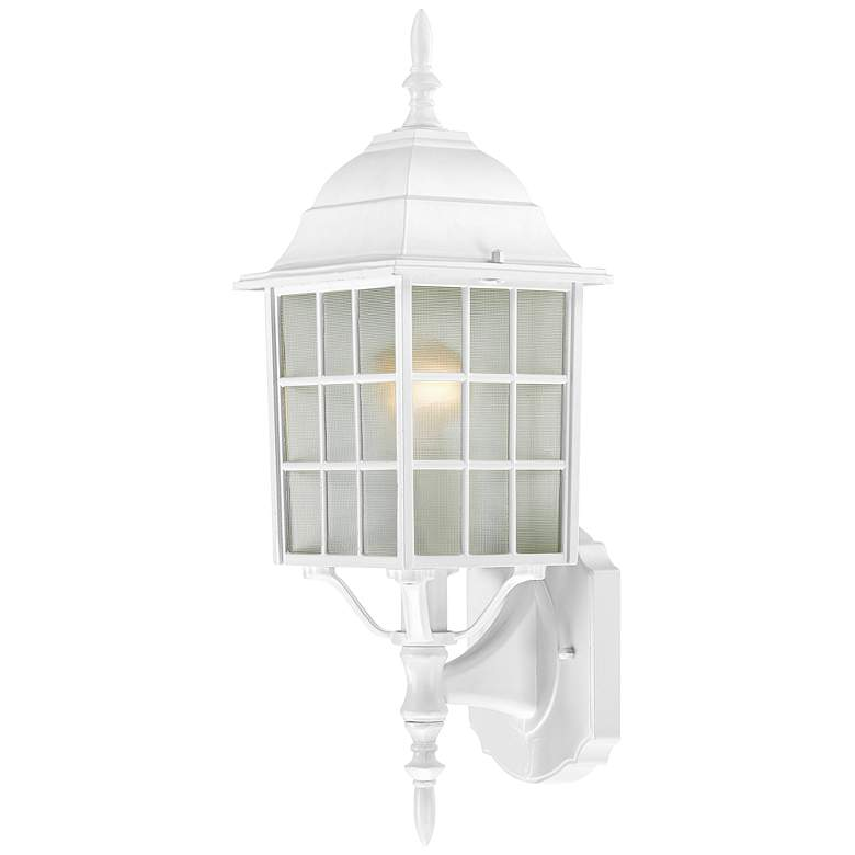 "Satco Adams 18 1/4"" High White Outdoor Wall Light"