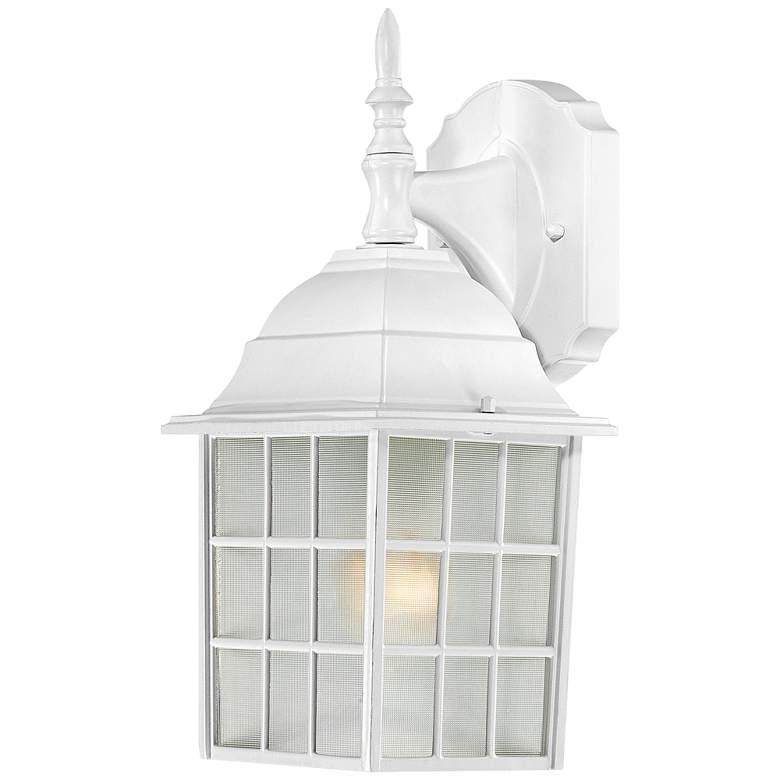"Satco Adams 13 3/4"" High White Outdoor Wall Light"