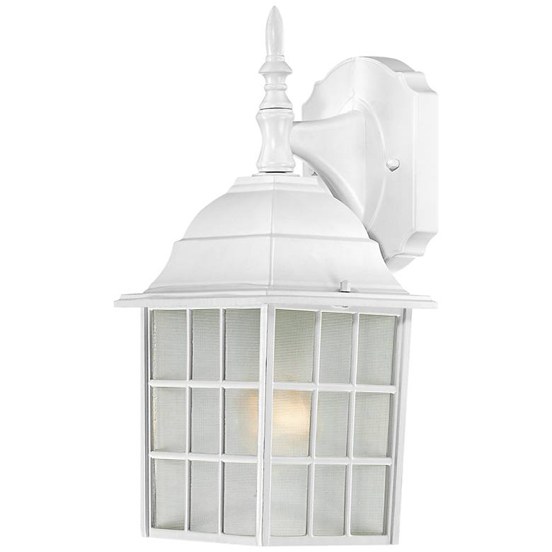 "Satco Adams 13 3/4"" High White Outdoor Wall Light"