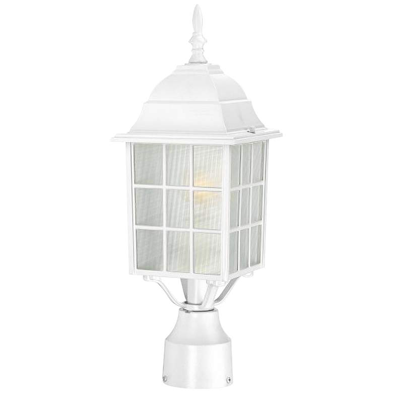 "Satco Adams 18 1/4"" High White Outdoor Post Light"
