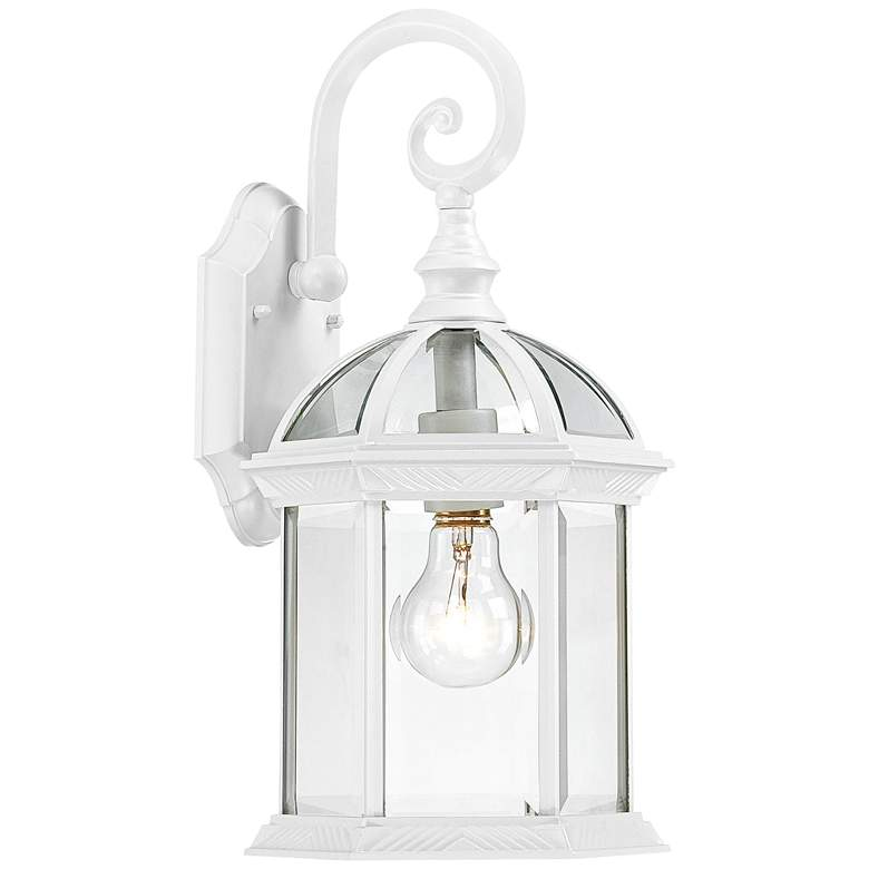 """Satco Boxwood 15 3/4"""" High White Outdoor Wall Light"""